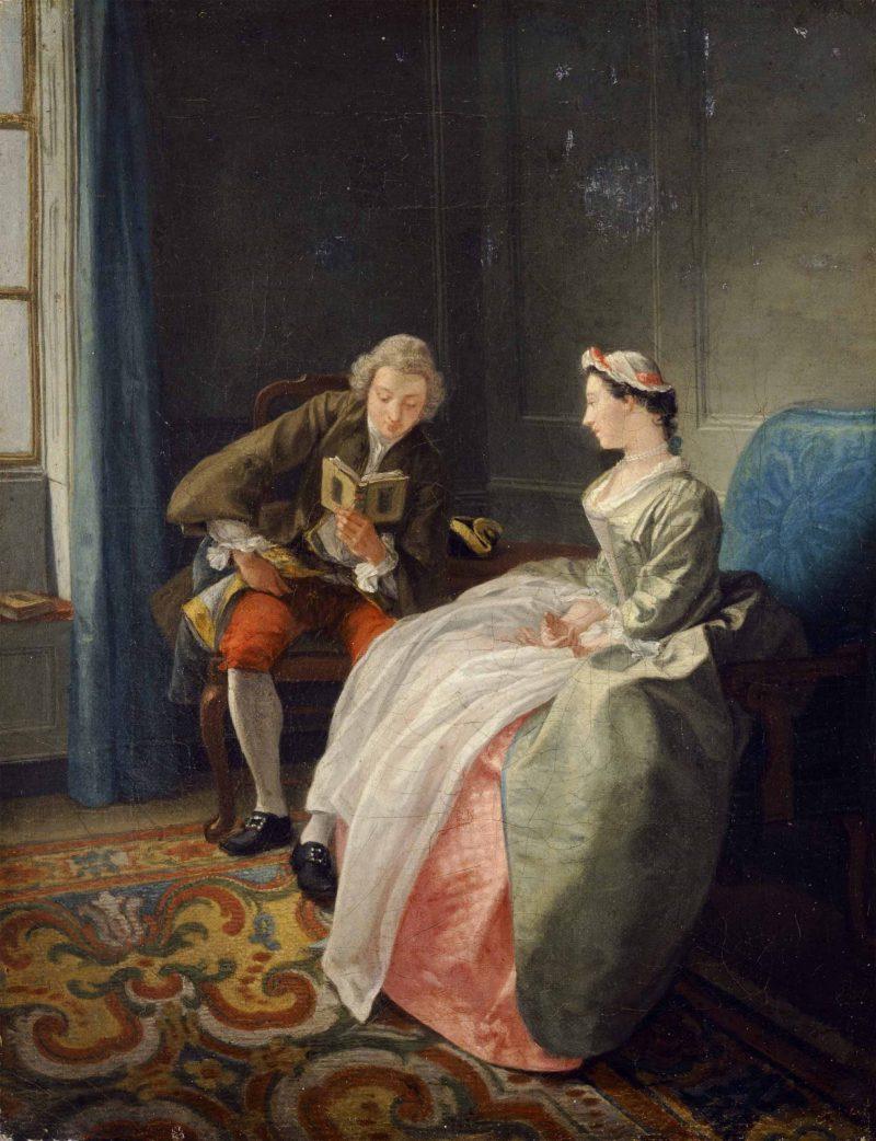 le lecteur or The Judicious lover byHubert-François Gravelot (1699-1773):